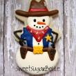 Cowboy Snowman Cookie
