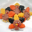 Snowflake turkey cookies