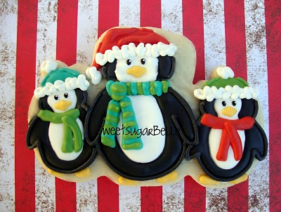 Penguin Christmas And Strawberry Shortcake Cookies The