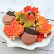 Autumn Leaves Platter
