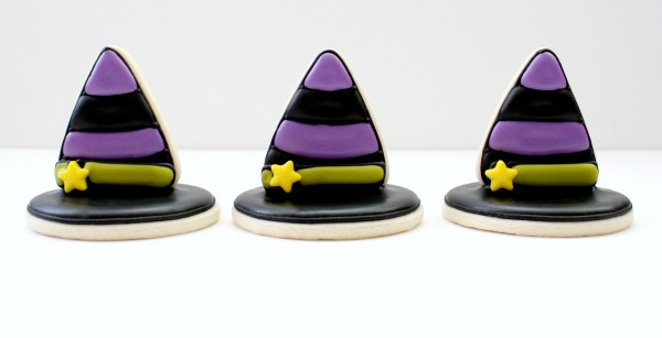 Witch Hat 3D Cookies from Sweet Sugar Belle