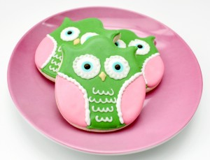 Colorful Owl Cookies