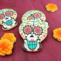 Bright  Calavera Cookies