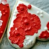 Valentine's Brush Embroidery Rose Cookie