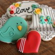 Love Birds Valentine's Cookies