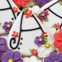 Floral Letter Cookie