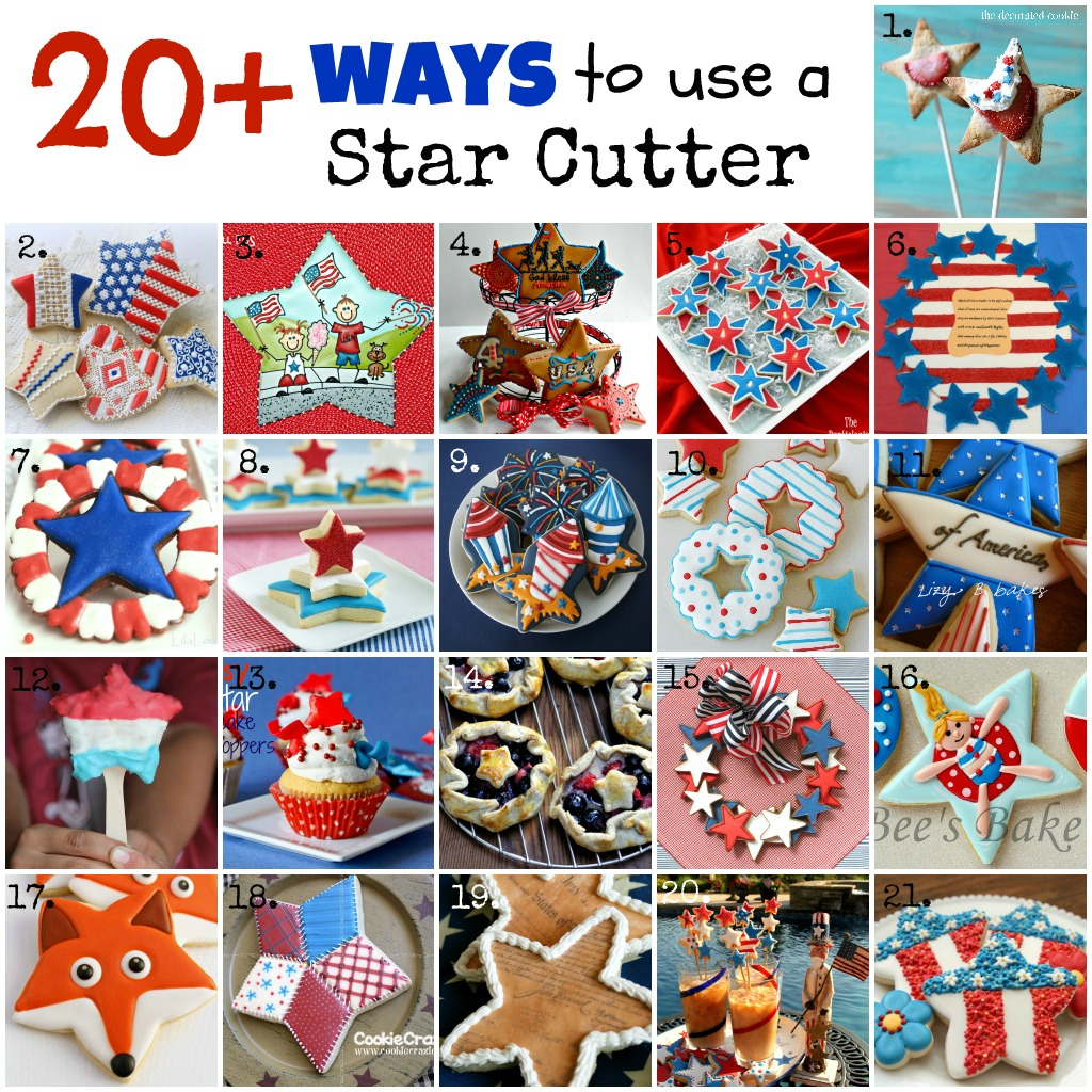 Twenty ways to use a common star cookie cutter!