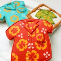 Hawaiian Shirt Cookies