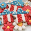 Floral Star Cookie Platter