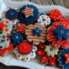Patriotic Flower Cookies