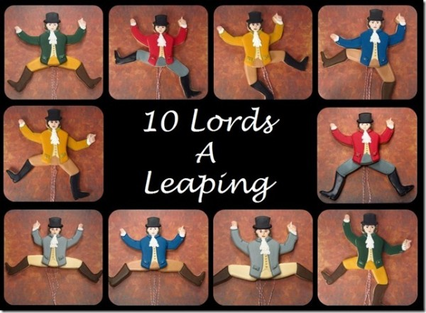 The Twelve Days of Christmas Cookie Project, Ten Lords a ...