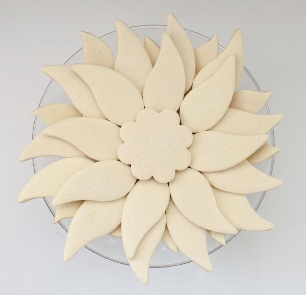 Poinsettia Template Printable Easy poinsettia platter