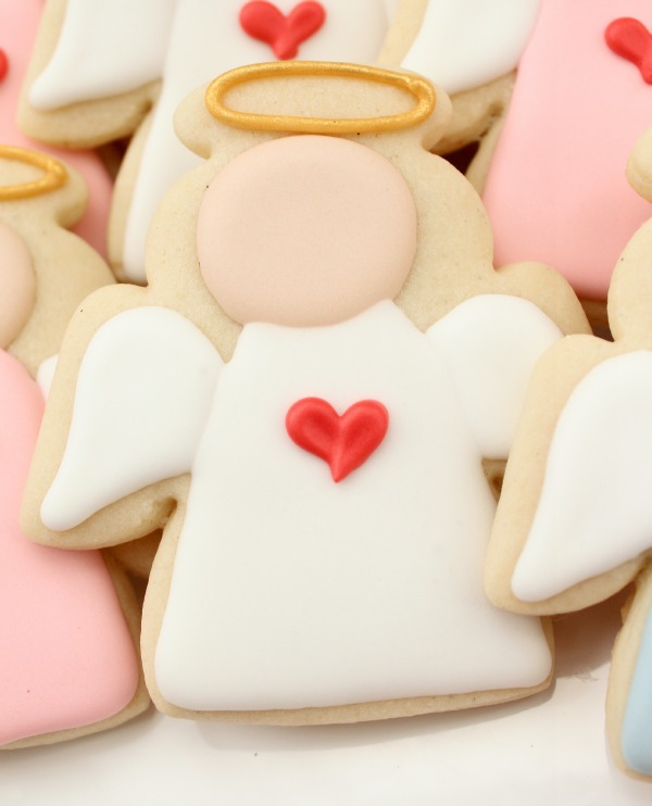 Decorated Christmas Angel Cookies