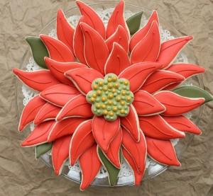 Easy Poinsettia Cookie Platter