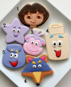 Dora Cookies with Simple Cutters