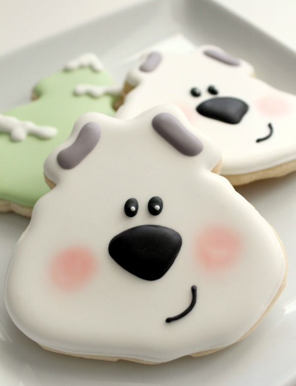 Easy Polar Bear Cookie 1a