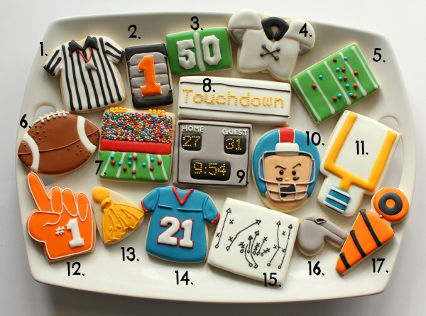 Football Cookie Cutter Ideas