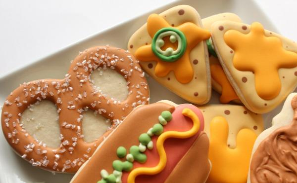 Stadium Food Cookies