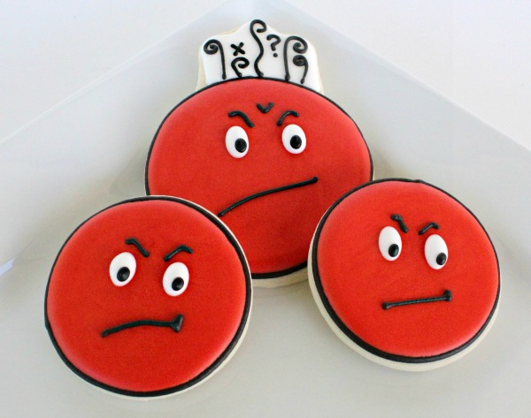 Angry Face Cookies