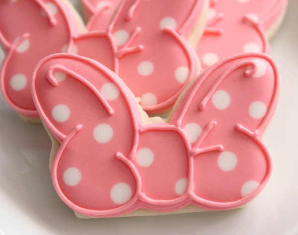 Minnie Mouse Bow Cookies 5