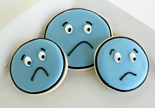 Sad Face Cookies