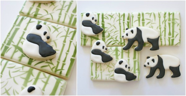 Cookie Countess Panda With Bamboo Design