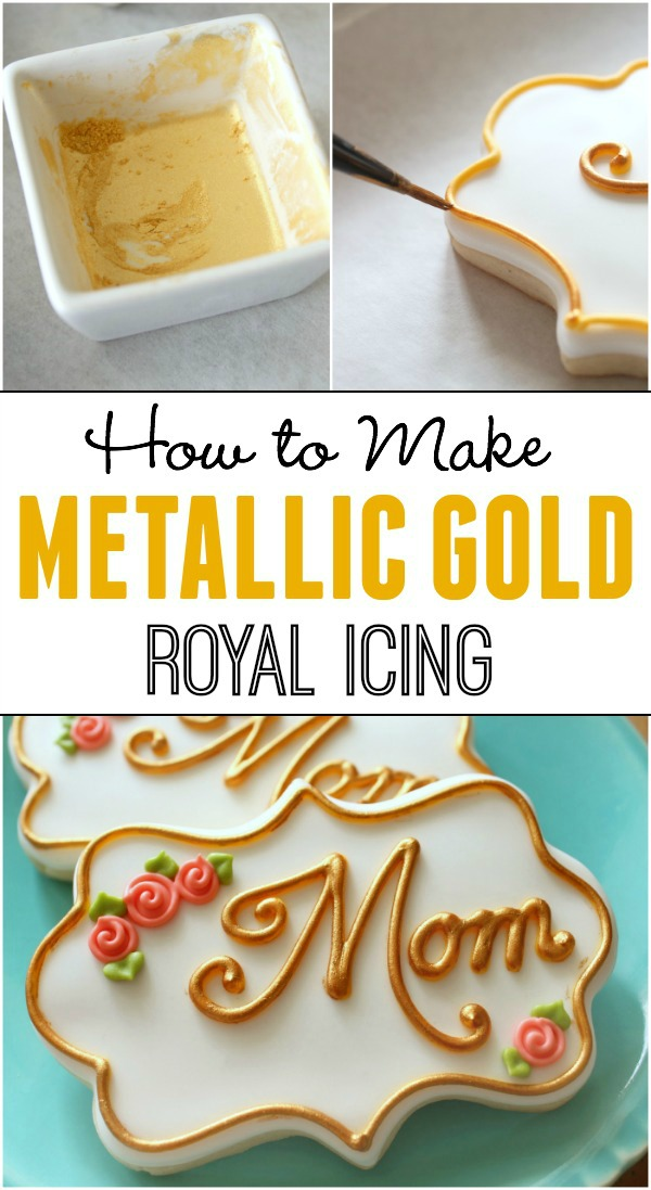 How to Make Gold Icing   and Silver Too! - The Sweet Adventures of