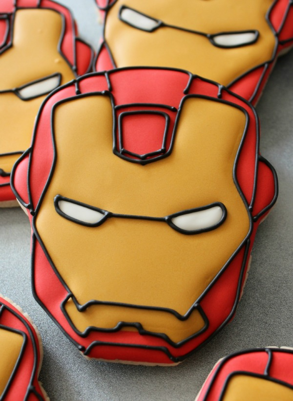 Iron Man Cookies_SweetSugarBelle