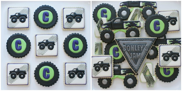Monster Truck Cookies by Cookie Countess