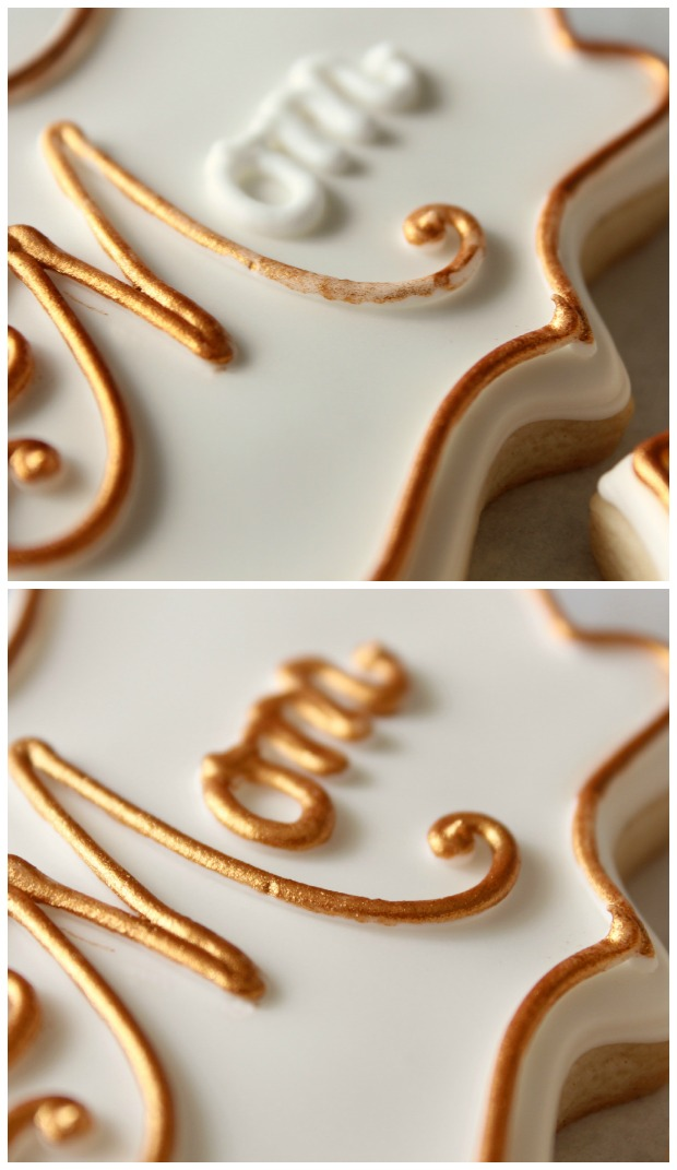 how to make gold frosting