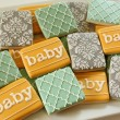 Damask Baby Shower Cookies