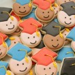 Mini Graduate Cookies Close Up
