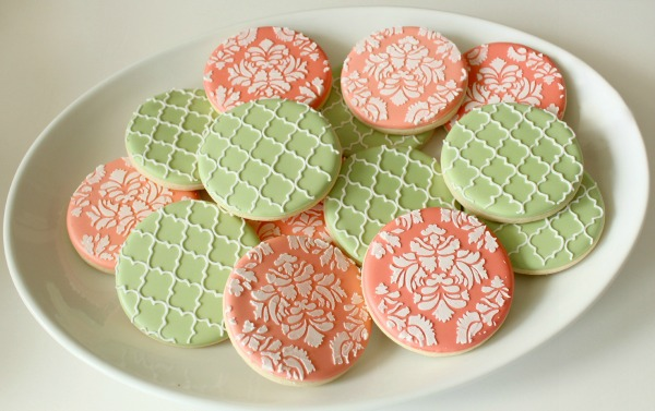 Quatrefoil and Damask Cookies