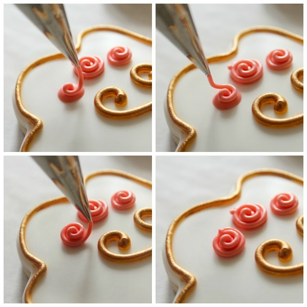 Simple Royal Icing Roses 3