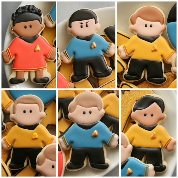 Star Trek Cast Cookies