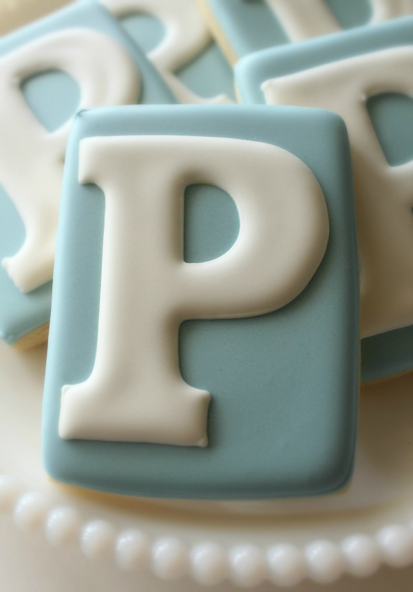 Fancy _P_ Monogram Cookies