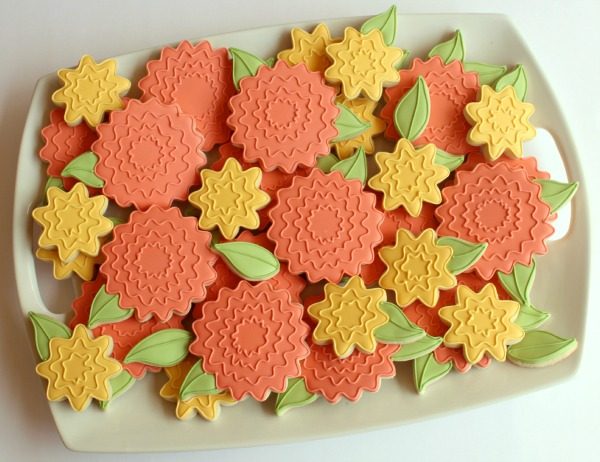 Flower with Leaf Cookie Cutter