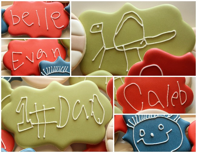 Kid Handwriting Cookies