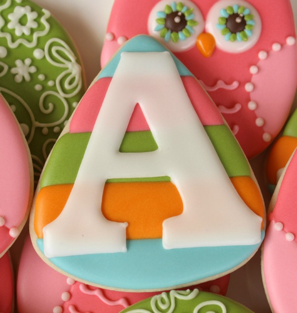 Pastel Monogram Cookie