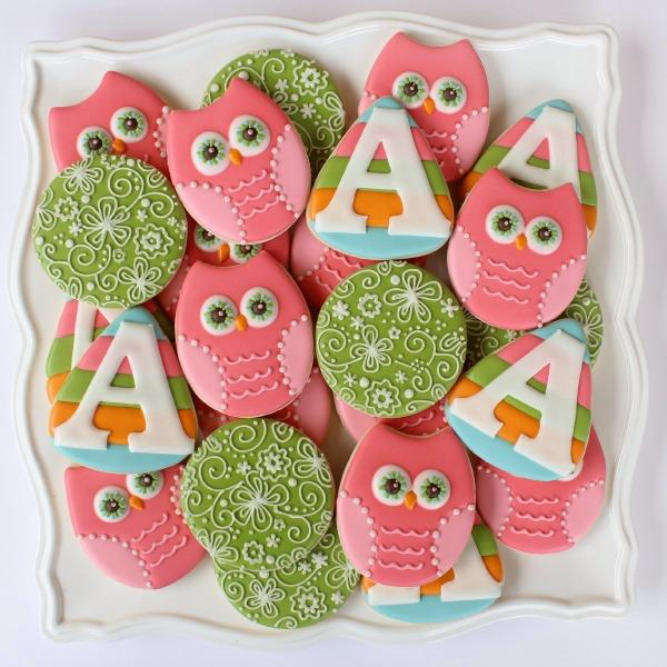 Pastel Owl Cookies