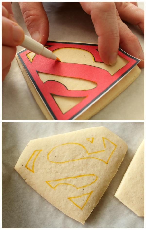 Perfect Superman Cookies