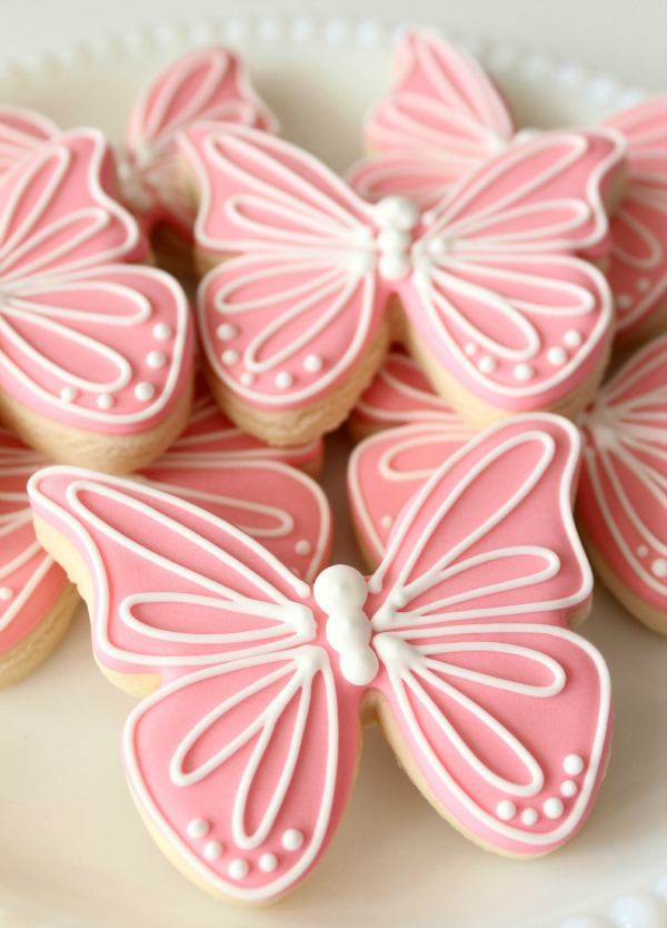 Pink Butterfly Cookies