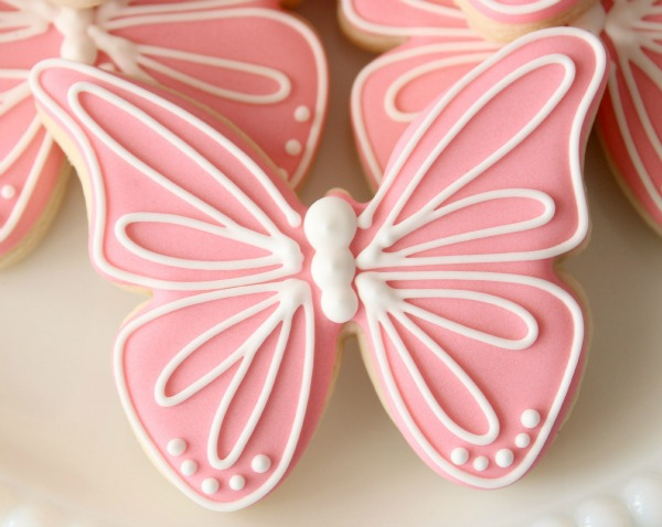 Pink Butterfly Cookies_Sweetsugarbelle