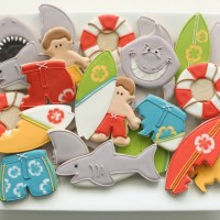 Shark Cookies and Surfers