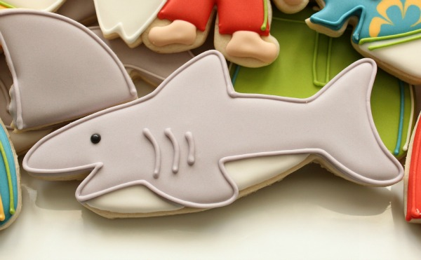 Simple Shark Cookies