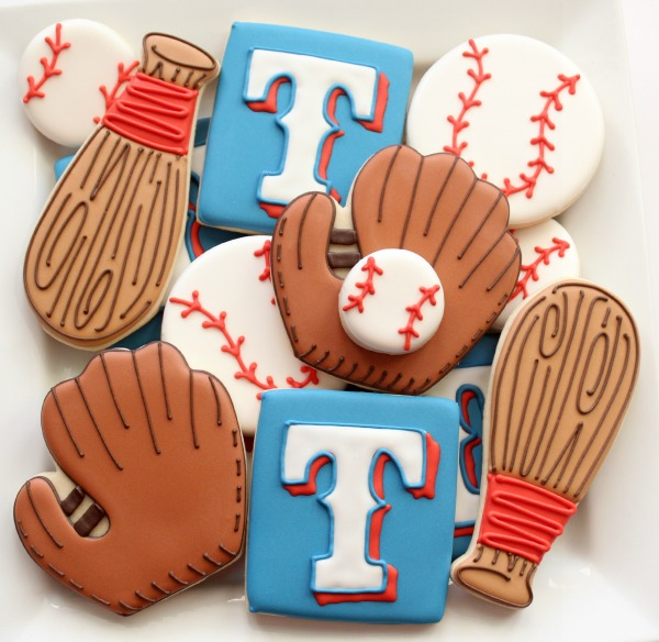 Texas Rangers Cookies