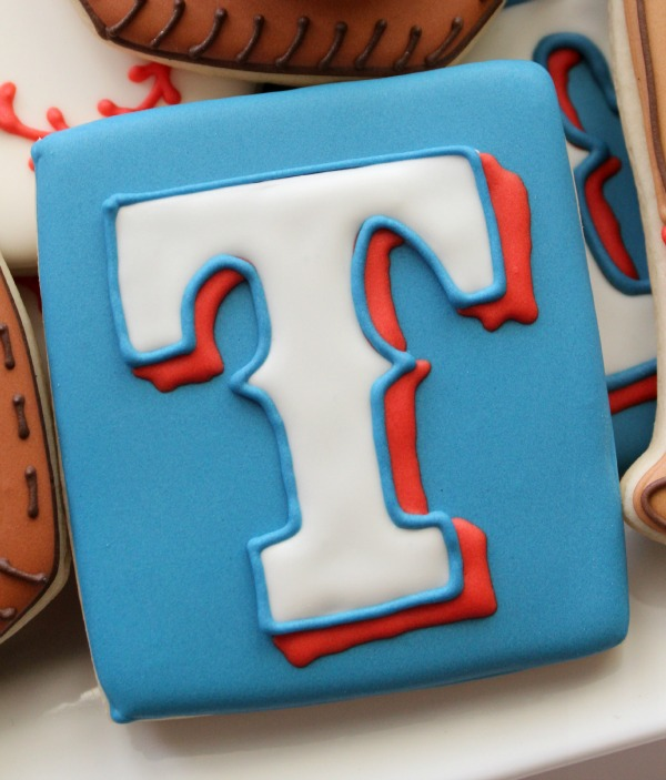 Texas Rangers Logo Cookie 1