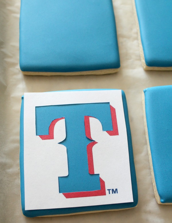 Texas Rangers Logo Cookie 2