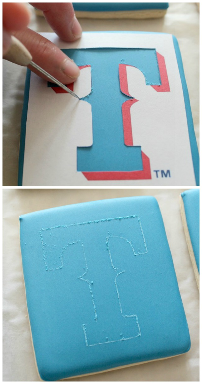 Texas Rangers Logo Cookie 3