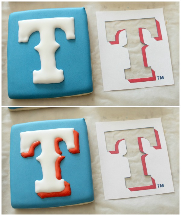 Texas Rangers Logo Cookie 5